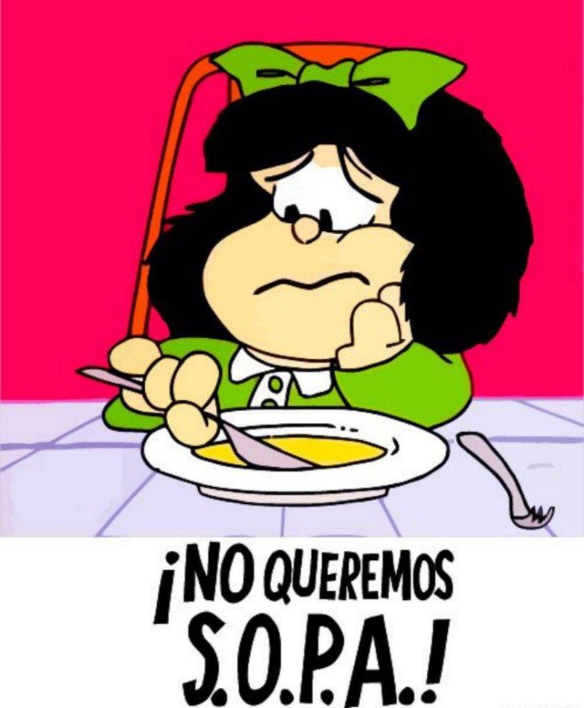 Mafalda y la sopa: 50 aniversario de Mafalda